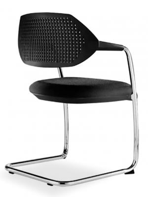 Silla Flex patín asiento tapizado - apilable