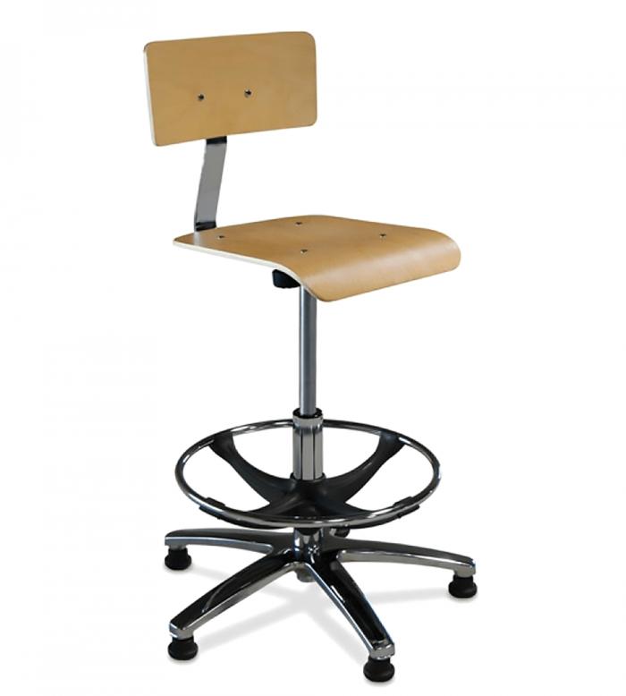 Taburete 48 asiento y respaldo madera