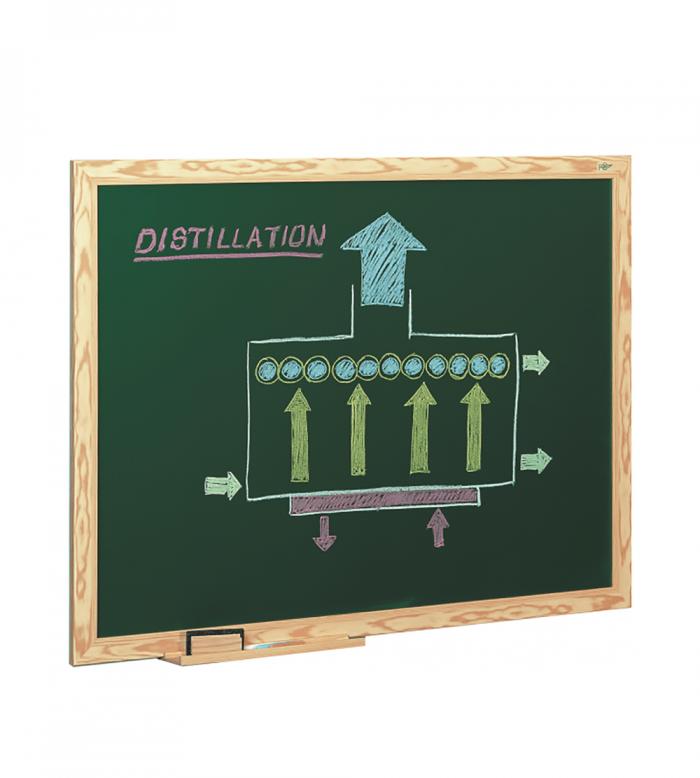 Pizarra verde para tizas, marco de madera