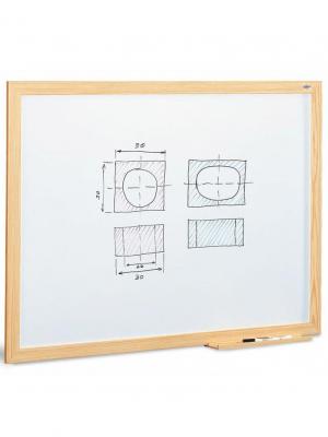 Pizarra blanca para rotuladores marco madera - garantía 10 años