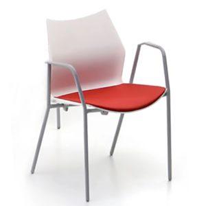 Silla Tenzing brazos y asiento tapiz.