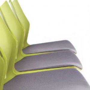 Silla Tenzing con asiento tapizado