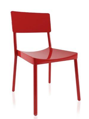 Silla Lisboa en color rojo