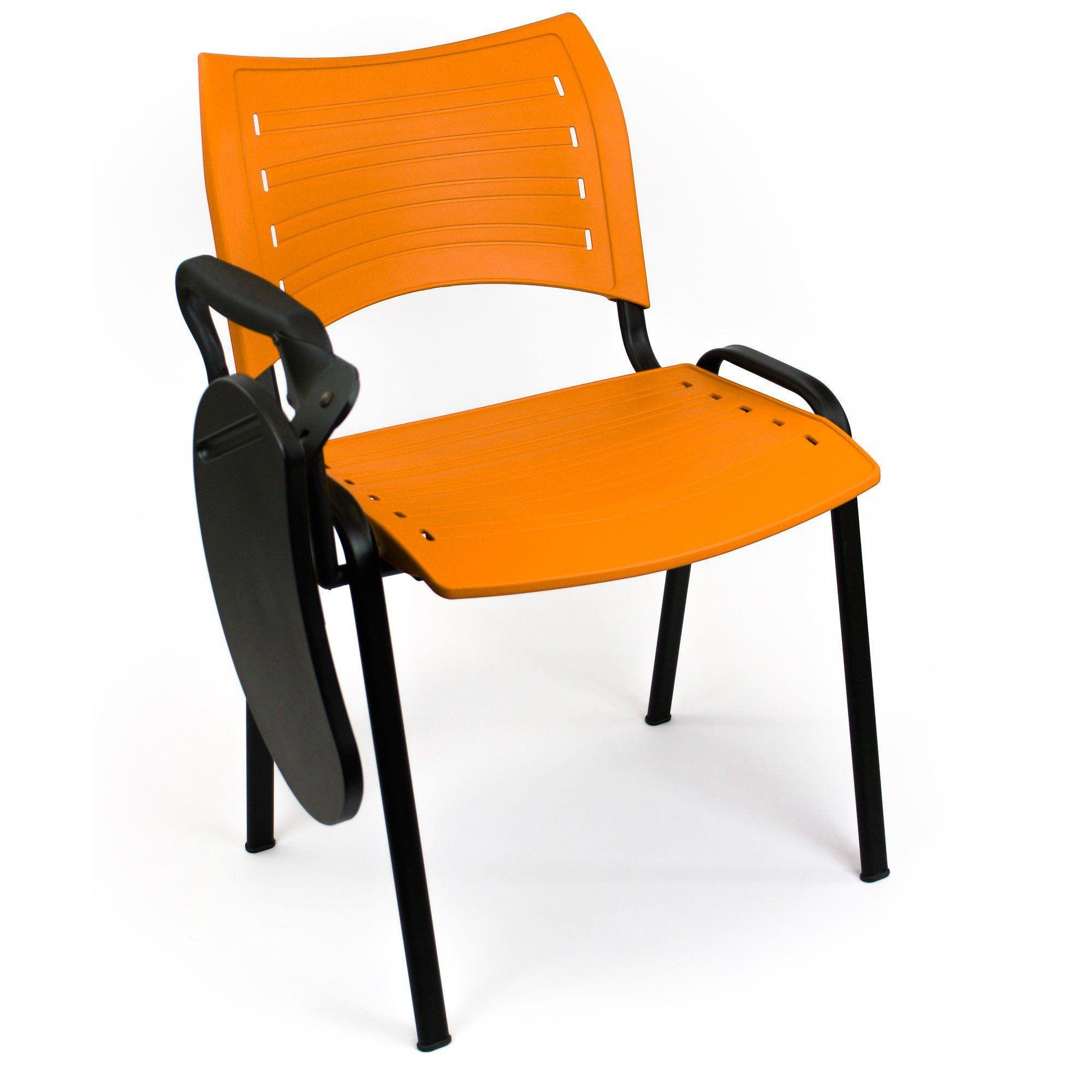 Silla New College naranja con pala poliamida