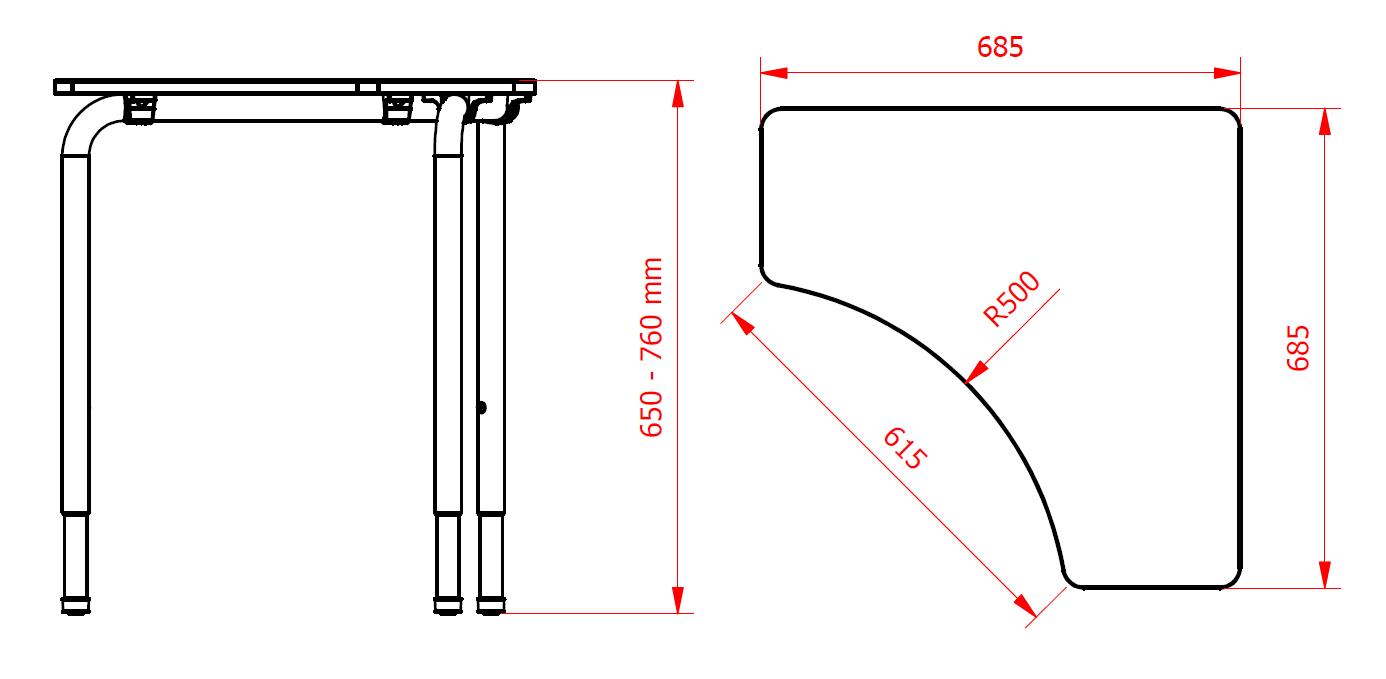 Medidas mesa Arrow